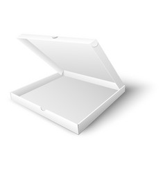 white blank open pizza box mock up vector image