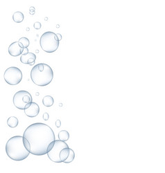 White water bubbles with reflection set vector