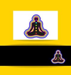 yoga chakra template vector image