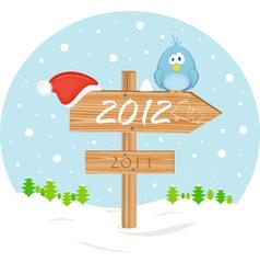2012 christmas sign vector image