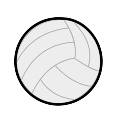 Ball volleyball sport icon line vector