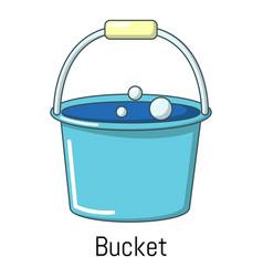 bucket icon cartoon style vector image
