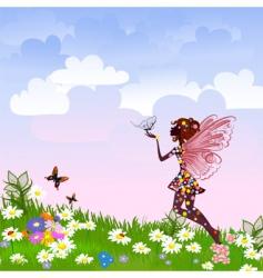 celestial fairy vector image vector image