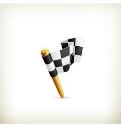 Checkered flag icon vector image vector image