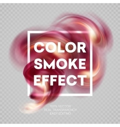 Colorful smoke on isolated background vector image