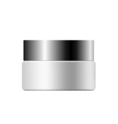 realistic mock up of cream container vector image