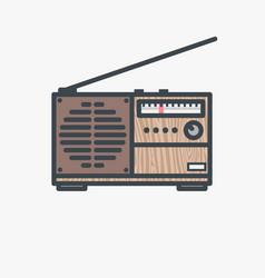 retro fm radio receiver vector image vector image