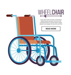 wheelchair classic transport chair for vector image
