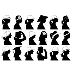 women profiles vector image vector image