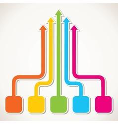 creative colorful arrow design vector image