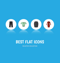 Flat icon clothes set of pants casual clothes vector