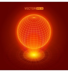 Holographic globe vector image vector image