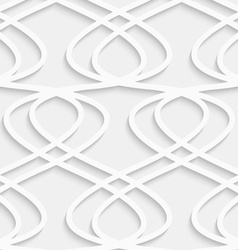 Paper cut out fence grid vector image vector image