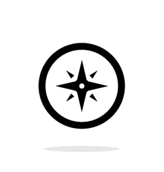 Wind rose icon on white background vector image vector image