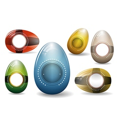 Eggs - collection vector image vector image
