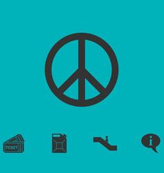 hippie peace icon flat vector image