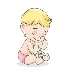kid with a toy vector image