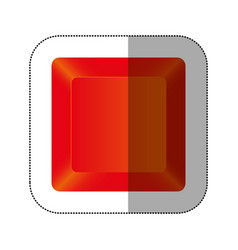 red button of computer keyboard vector image