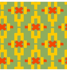 Seamless pattern in tribal Indian style vector image