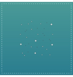 starry sky icon vector image