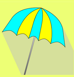 summer umbrella icon vector image vector image