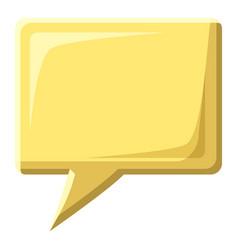 yellow speech bubble square shape icon vector image