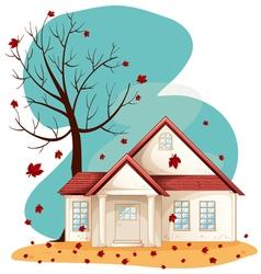Autumn suburban house vector