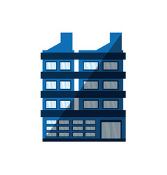 building corporate shadow icon vector image