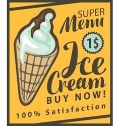 Ice cream in retro style vector