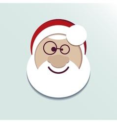 Paper head Santa Claus vector image