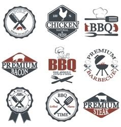 Set of butcher shop labels vector image vector image