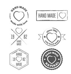 Set of vintage retro handmade badges labels and vector image