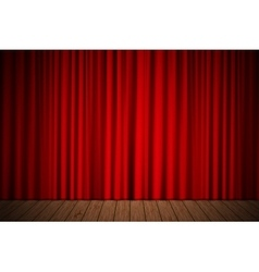 stage with curtain vector image