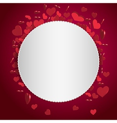 Valentine abstract background vector image vector image