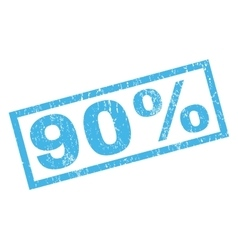 90 Percent Rubber Stamp vector image