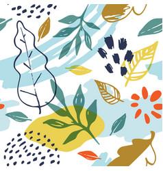 abstract autumn pattern vector image