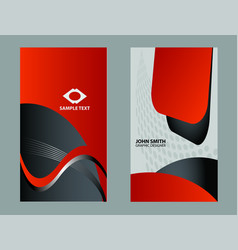 abstract various 15 business card set bright colle vector image