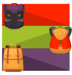 back to school kids backpack banner vector image