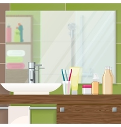 Bathroom Interior Closeup vector