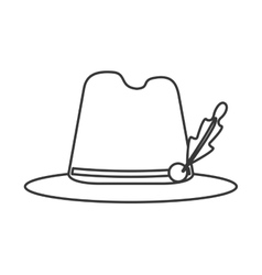 bavarian tyrolean hat icon vector image