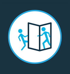 Beware opening door icon colored symbol vector