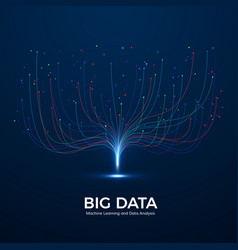 big data machine learning and data analysis vector image