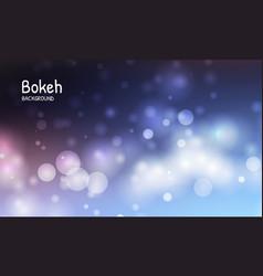 blue color background blur bokeh light effect vector image