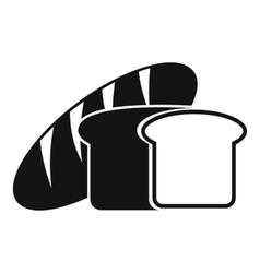 Bread icon simple style vector image