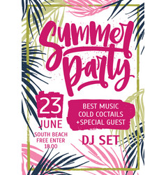 bright colored invitation poster or flyer vector image