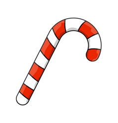 candy cane symbol icon design vector image