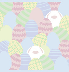 card with eggs and rabbits vector image