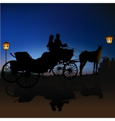 carriage silhouette vector image