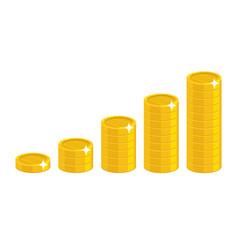 Cartoon coin stack vector