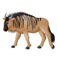 cartoon wildebeest mascot vector image